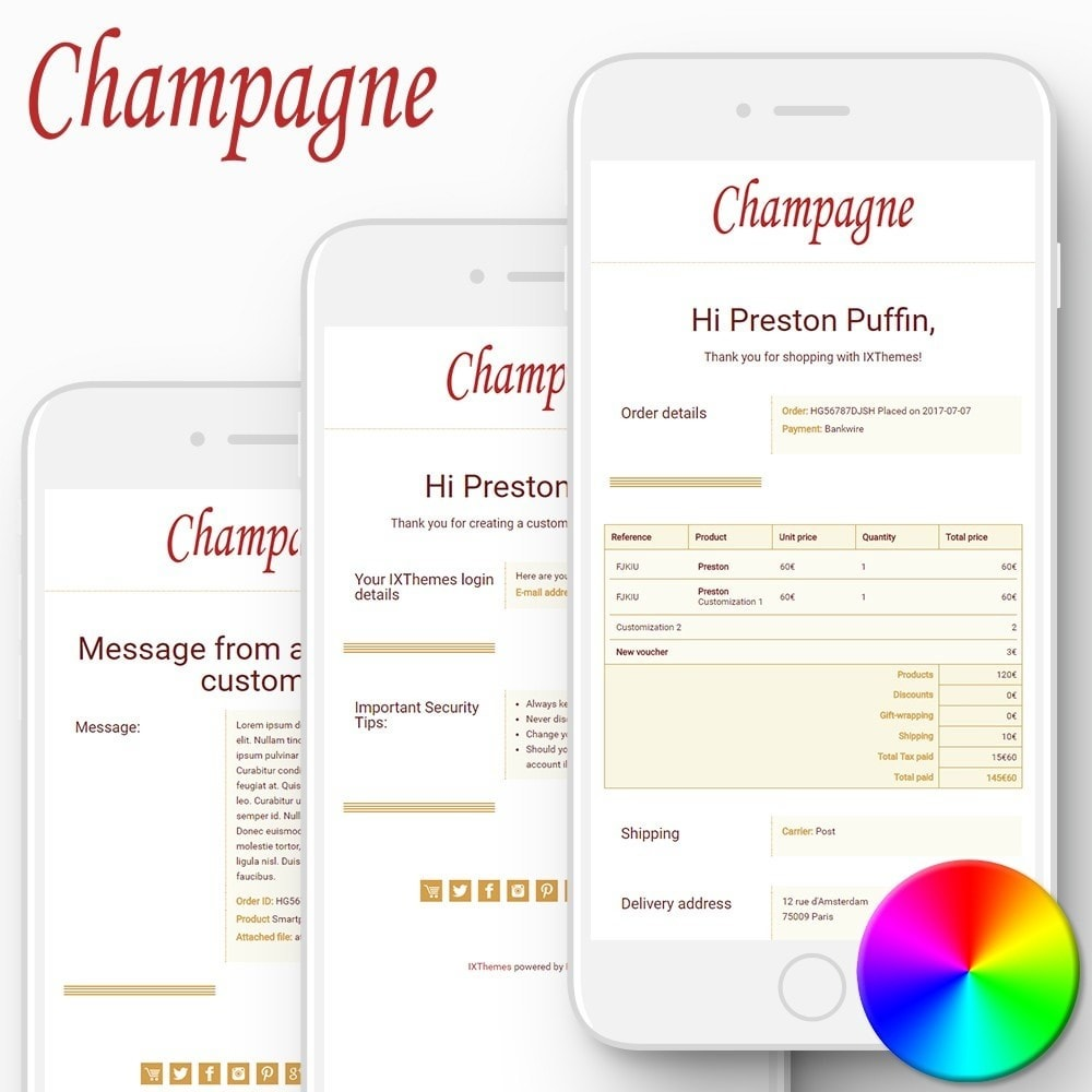 email - Templates d'e-mails PrestaShop - Champagne - Email templates - 1