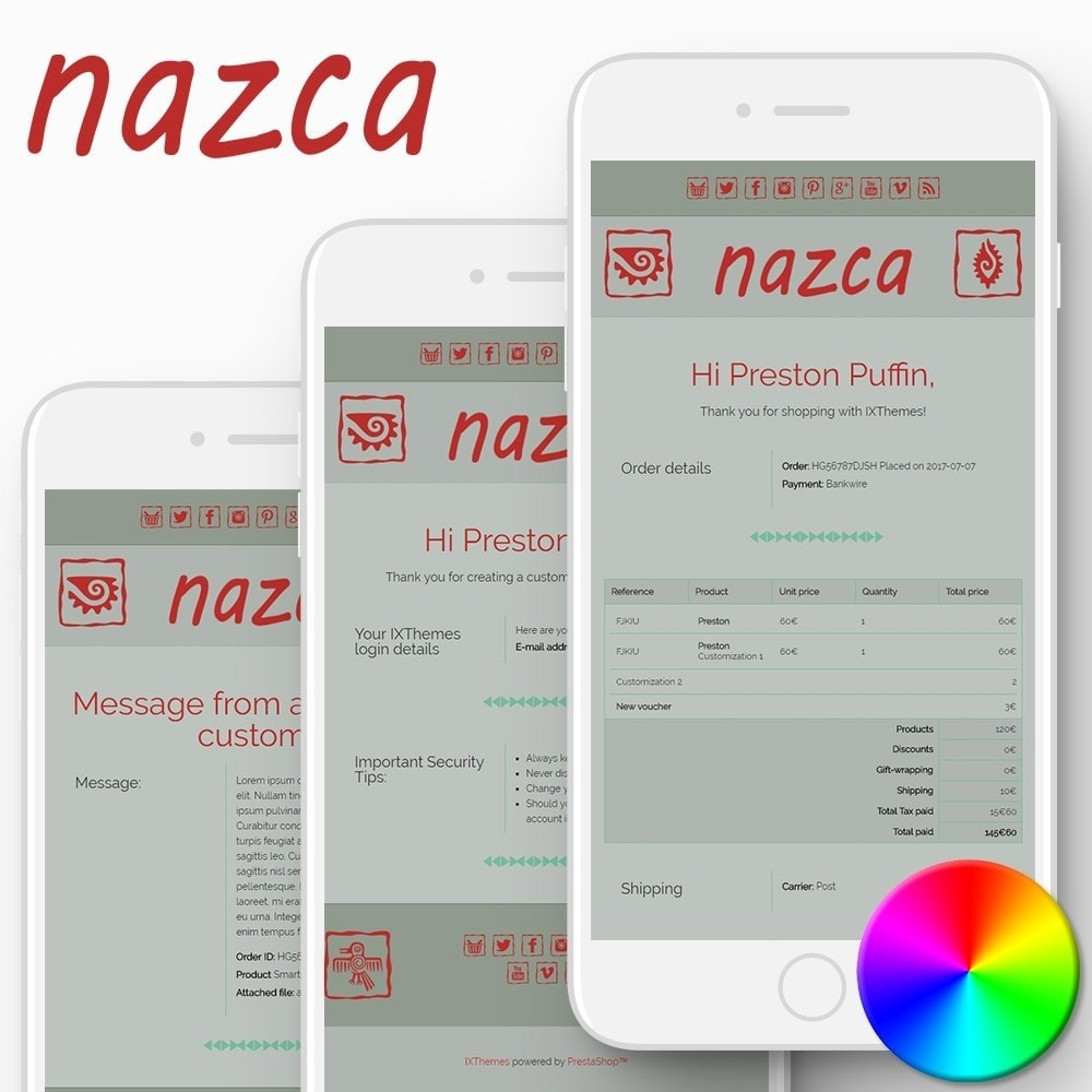 email - Szablony e-mail PrestaShop - Nazca - Email templates - 1