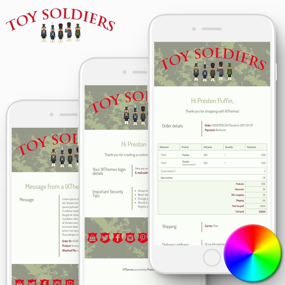 email - Szablony e-mail PrestaShop - Toy Soldiers - Email templates - 1