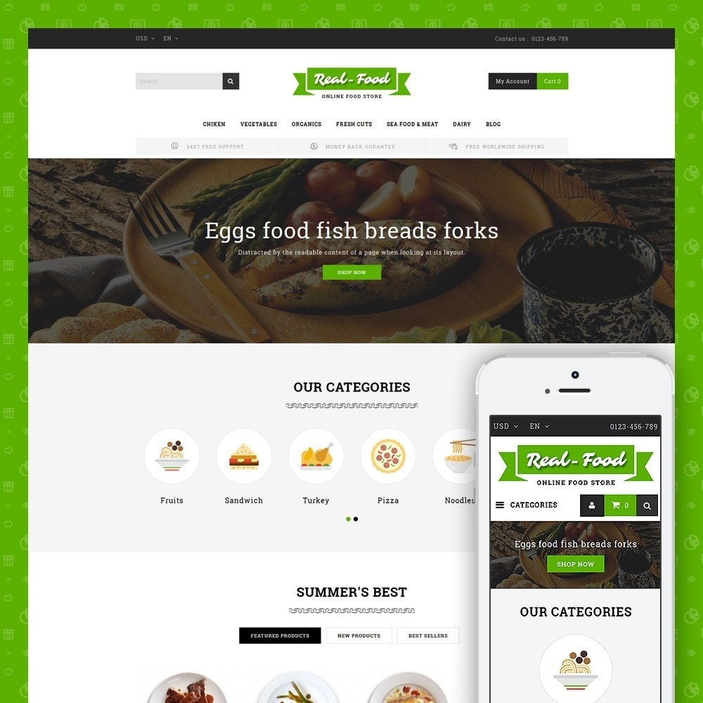 theme - Alimentos & Restaurantes - Best Real Food Store - 1