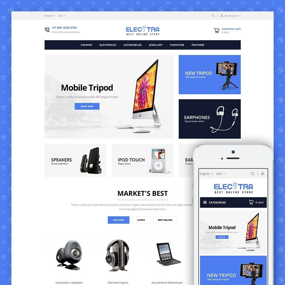 theme - Elektronika & High Tech - Electra Store - 1