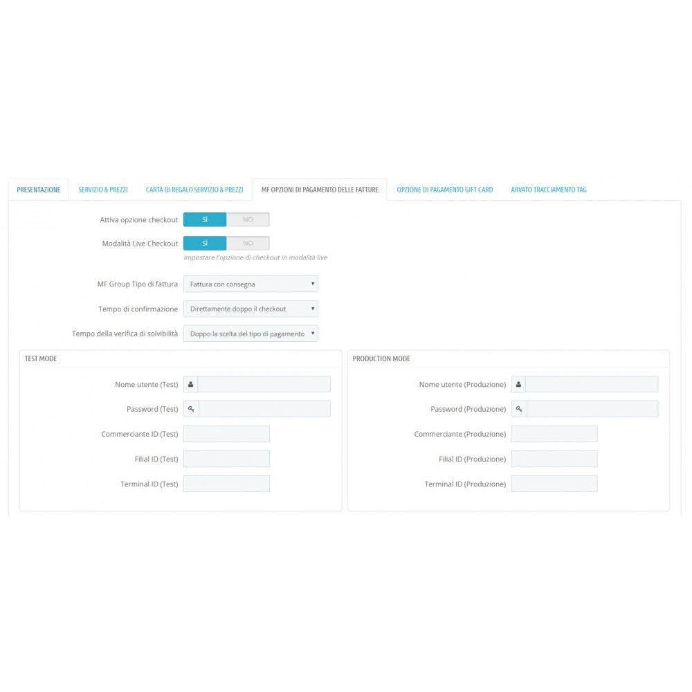 module - Pagamento con Fattura - Acquisto tramite fattura con pagamento parziale - 2