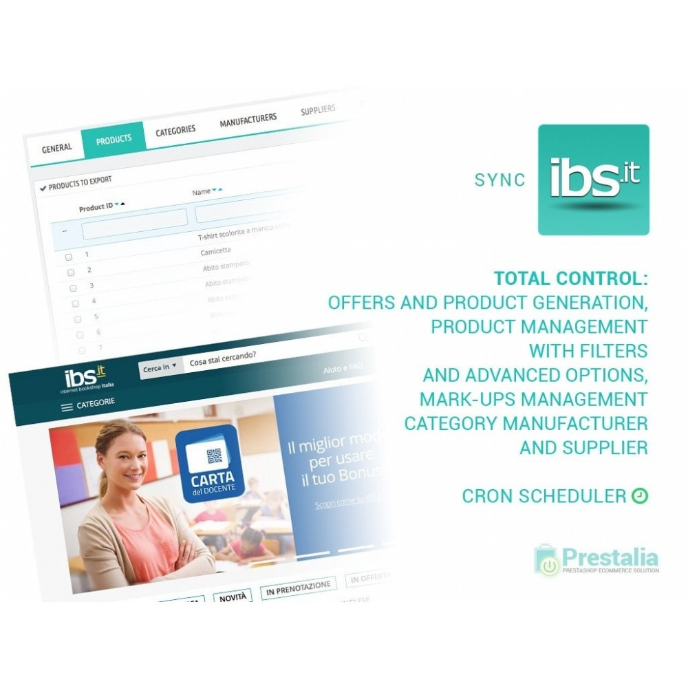 module - Marketplaces - Sync your PrestaShop store with IBS.it marketplace - 1