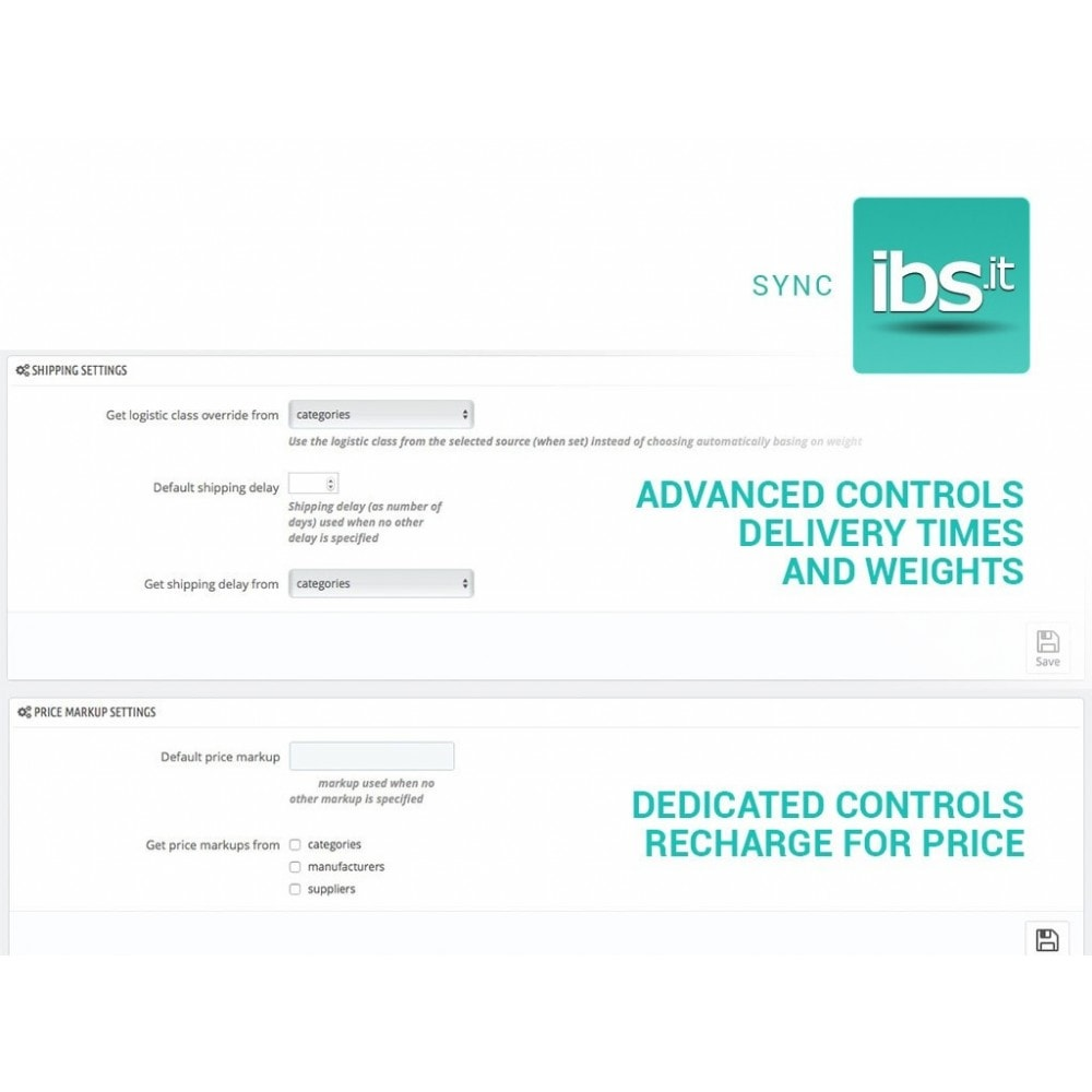 module - Marketplaces - Sync your PrestaShop store with IBS.it marketplace - 3