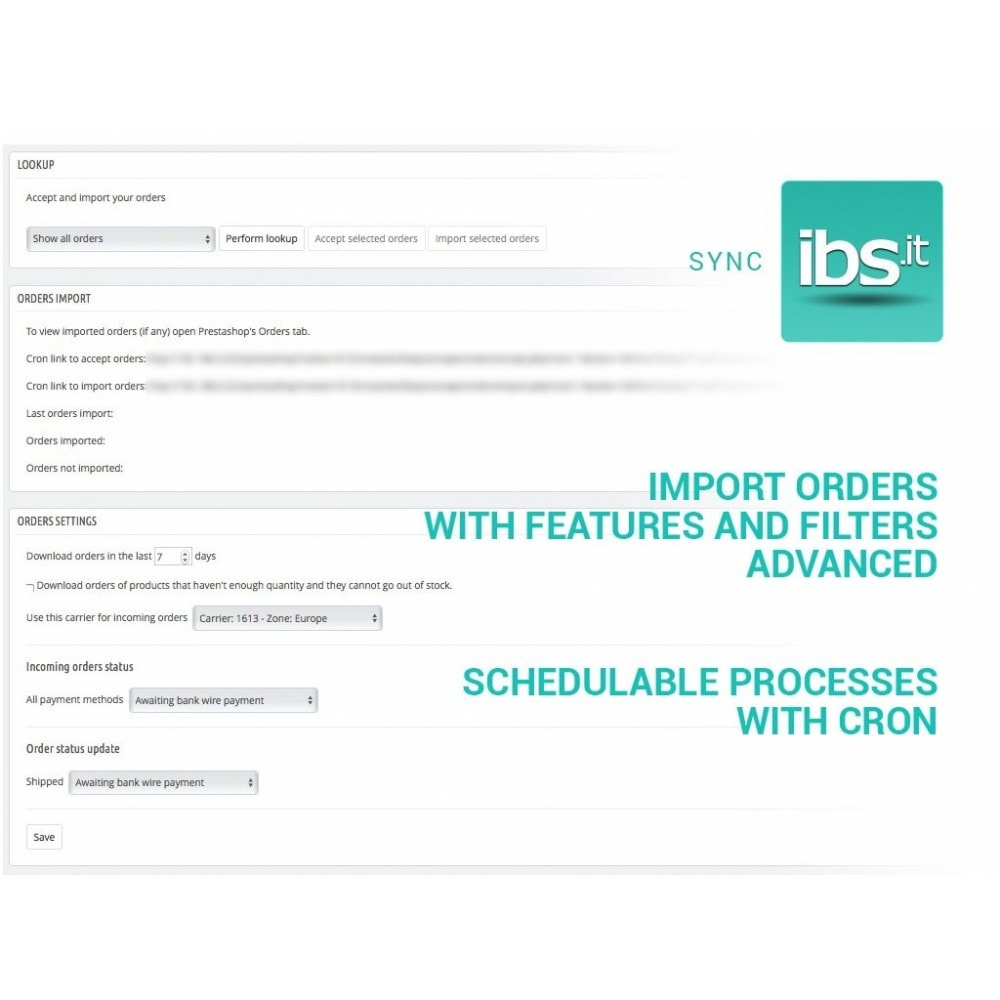 module - Marketplaces - Sync your PrestaShop store with IBS.it marketplace - 5