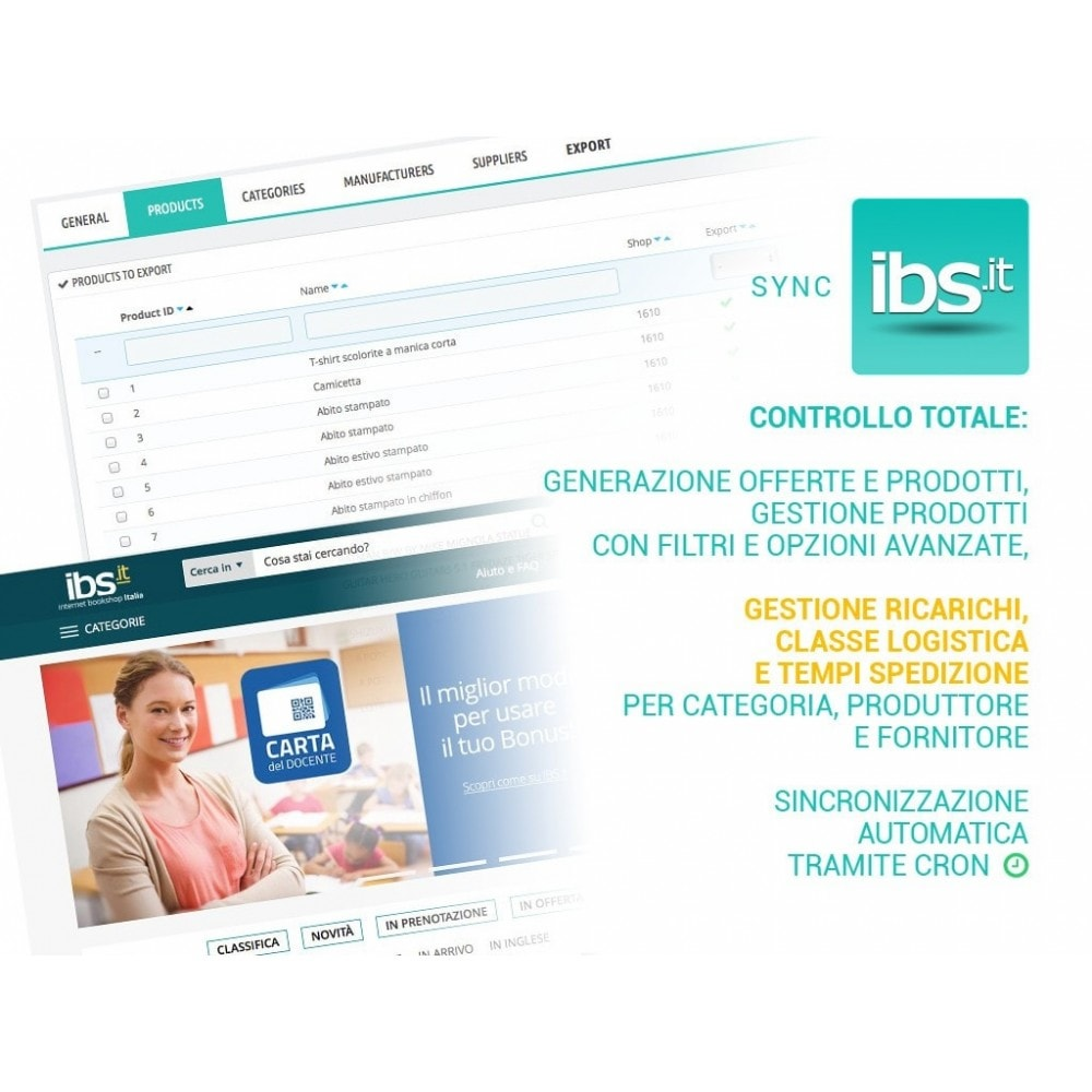 module - Marketplace - Sincronizza PrestaShop con il marketplace IBS.it - 1