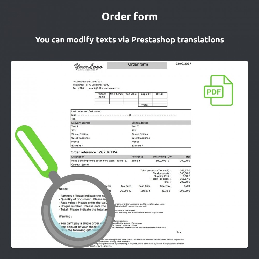 module - Płatność kartą lub Płatność Wallet - Gift card Payment - 7