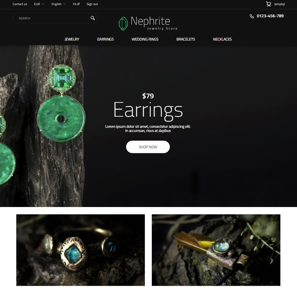 theme - Ювелирные изделия и Аксессуары - Nephrite - Jewelry Store - 9