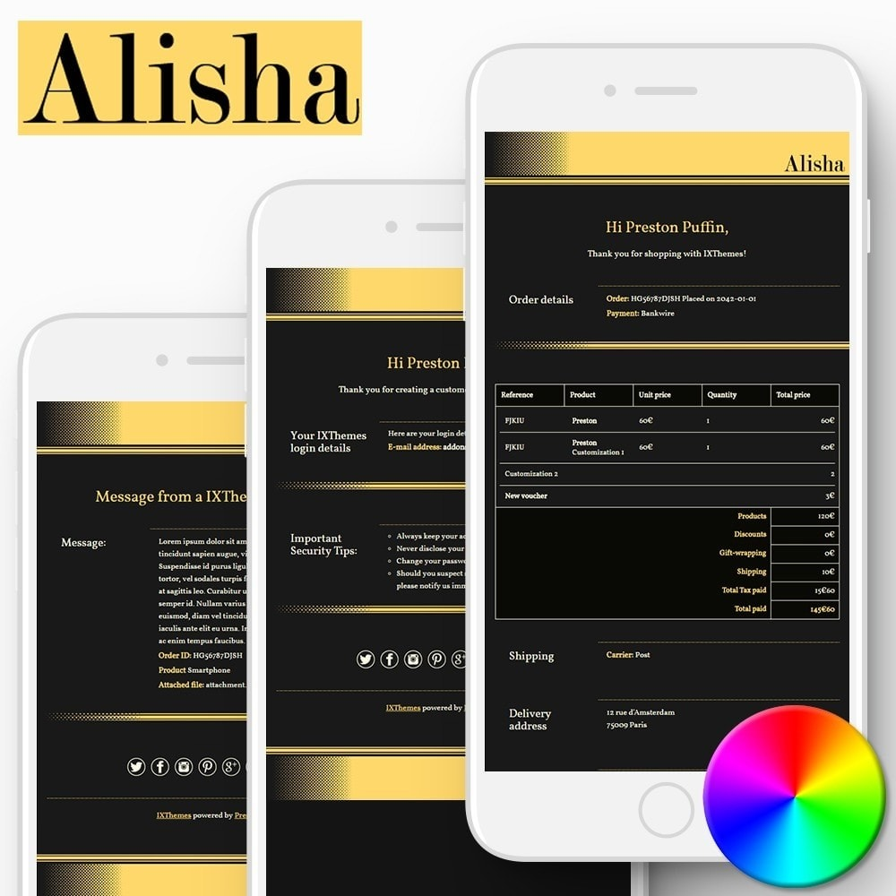 email - PrestaShop email templates - Alisha - Email templates - 1
