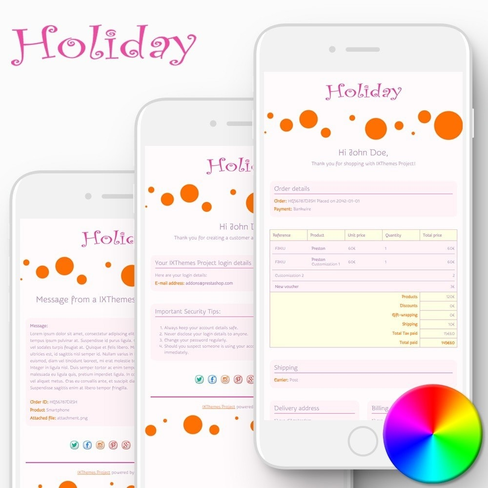 email - Templates d'e-mails PrestaShop - Holiday - Email templates - 1