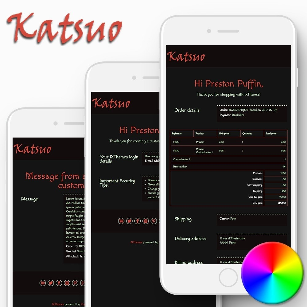 email - Szablony e-mail PrestaShop - Katsuo - Email templates - 1