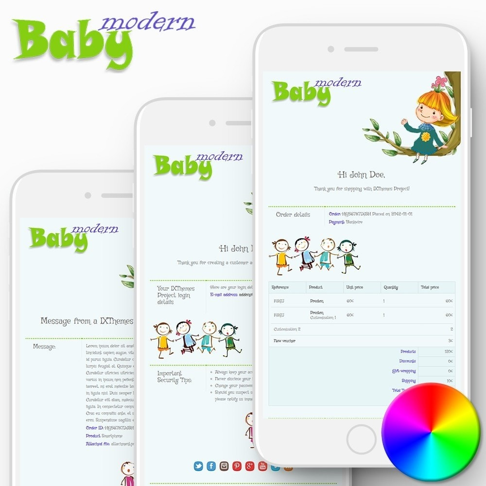 email - Szablony e-mail PrestaShop - Modern Baby - Email templates - 1