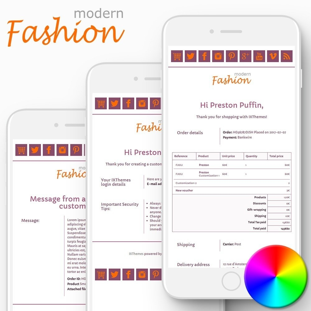 email - PrestaShop email templates - Modern Fashion - Email templates - 1