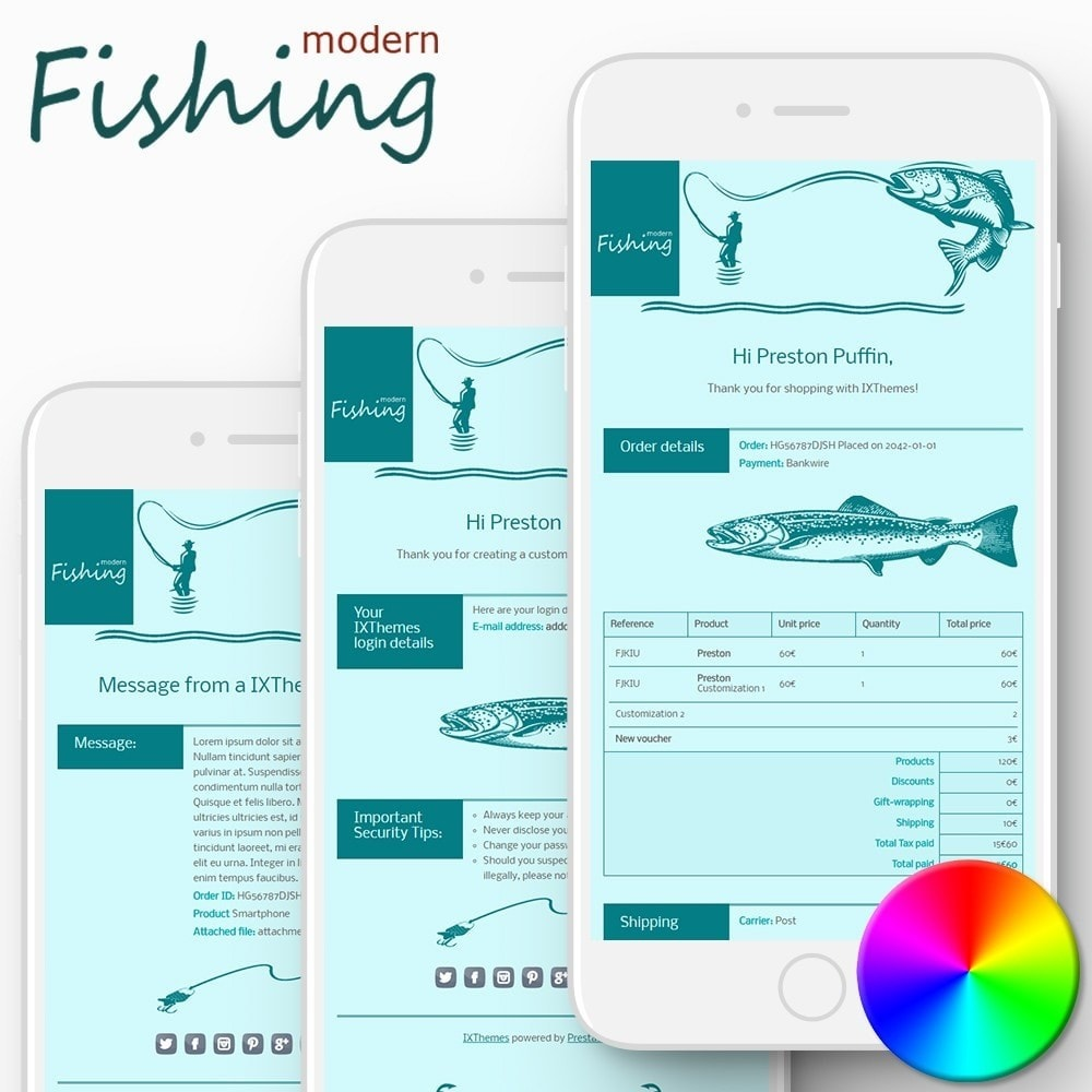email - Templates d'e-mails PrestaShop - Modern Fishing - Email templates - 1