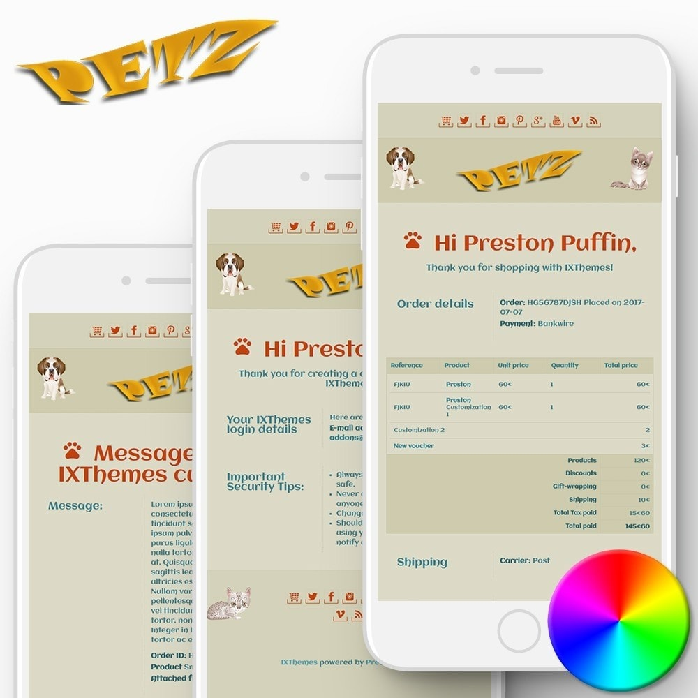 email - PrestaShop email templates - Petz - Email templates - 1