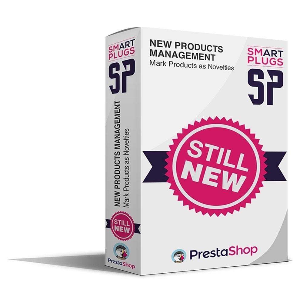 module - Ferramentas de Administração - New Products Management, mark products as novelties - 1