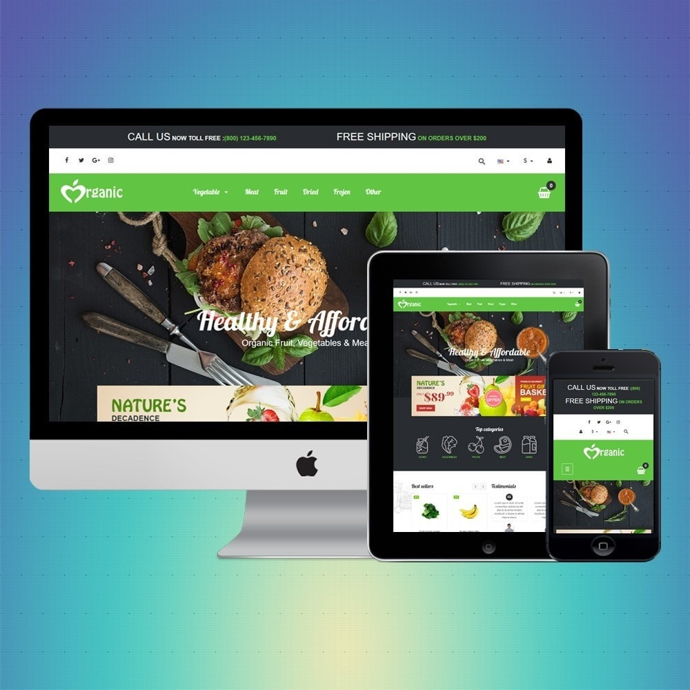 theme - Lebensmittel & Restaurants - VP_Organic Store - 1