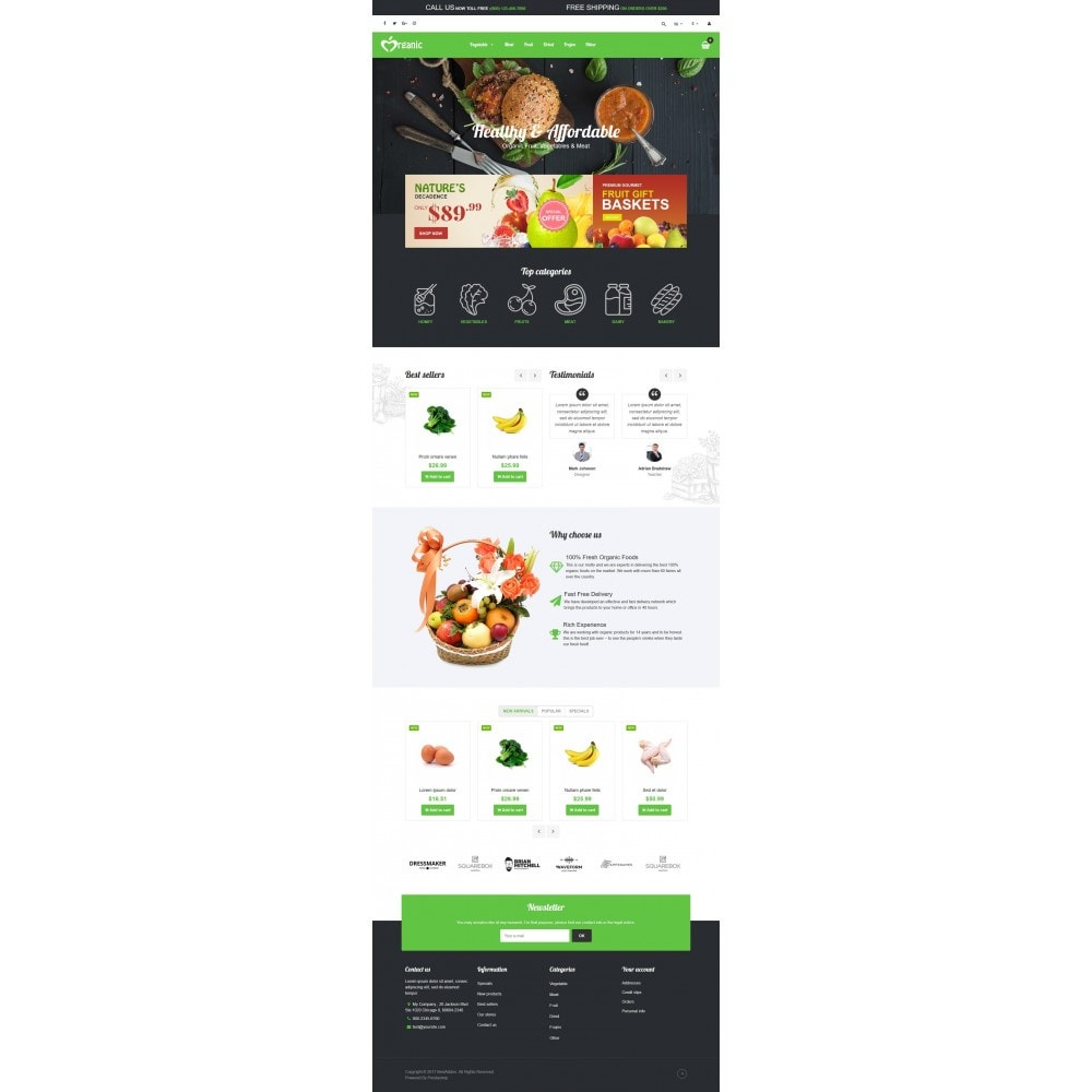 theme - Lebensmittel & Restaurants - VP_Organic Store - 2