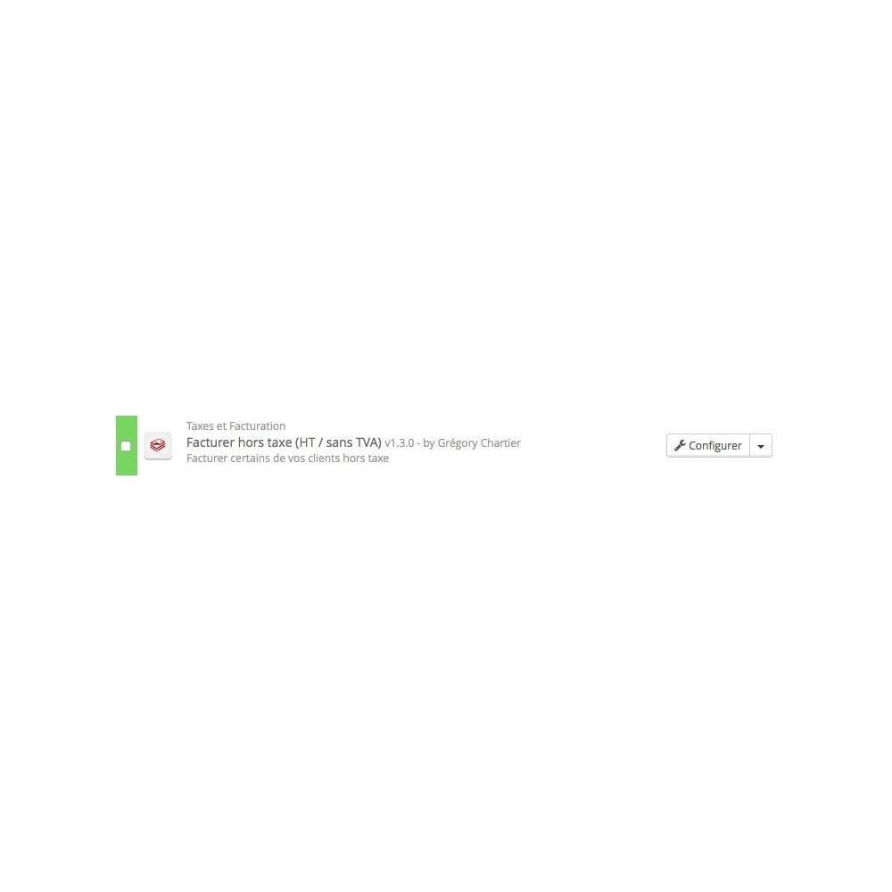 module - Comptabilité & Facturation - Facturer hors taxe (HT / sans TVA) - 4