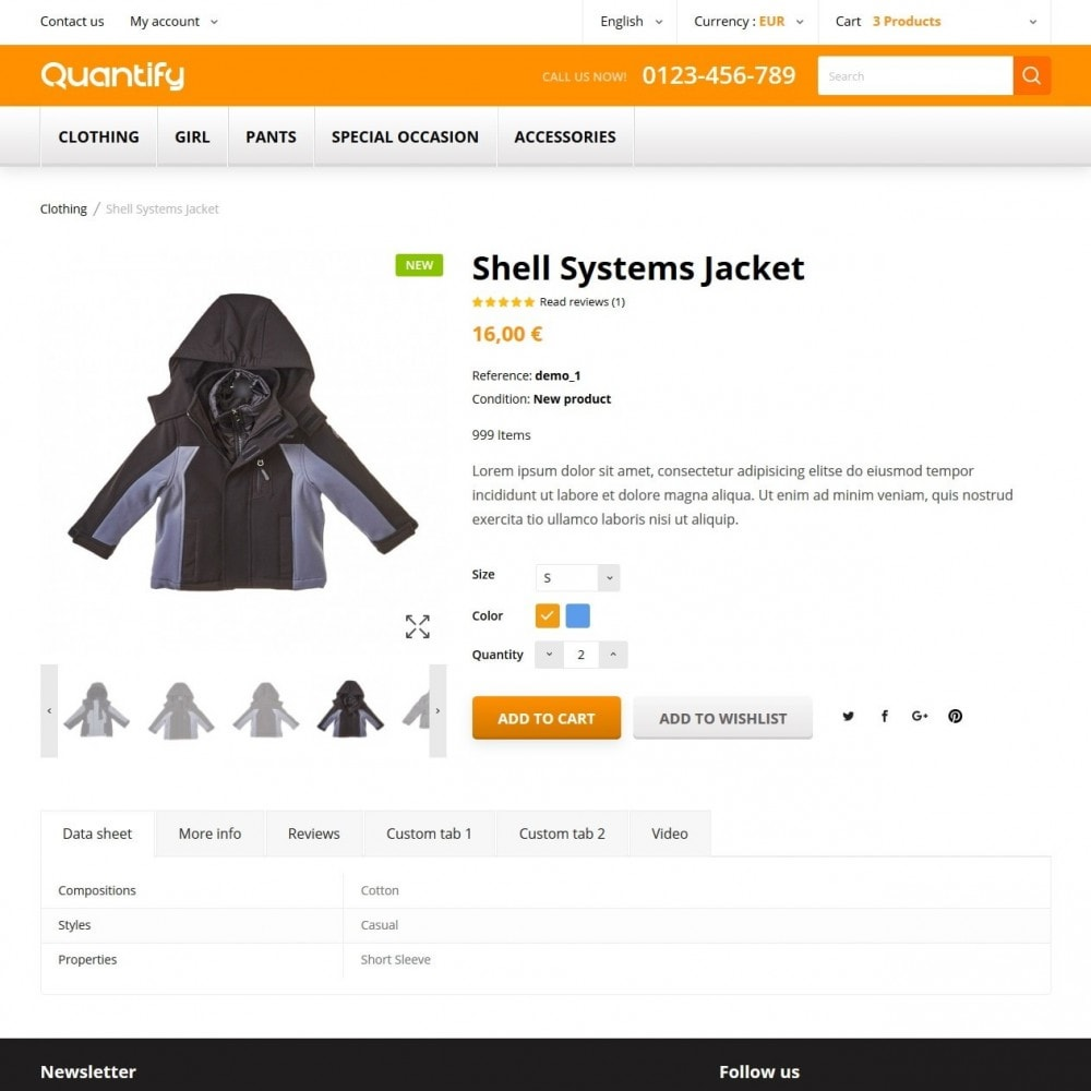theme - Дети и Игрушки - Quantify - Kids Clothes - 6