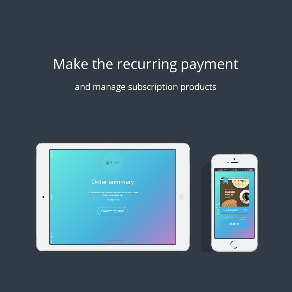 module - Recurring payment (subscription) - - ChargeMe - PayPal Payment - 8