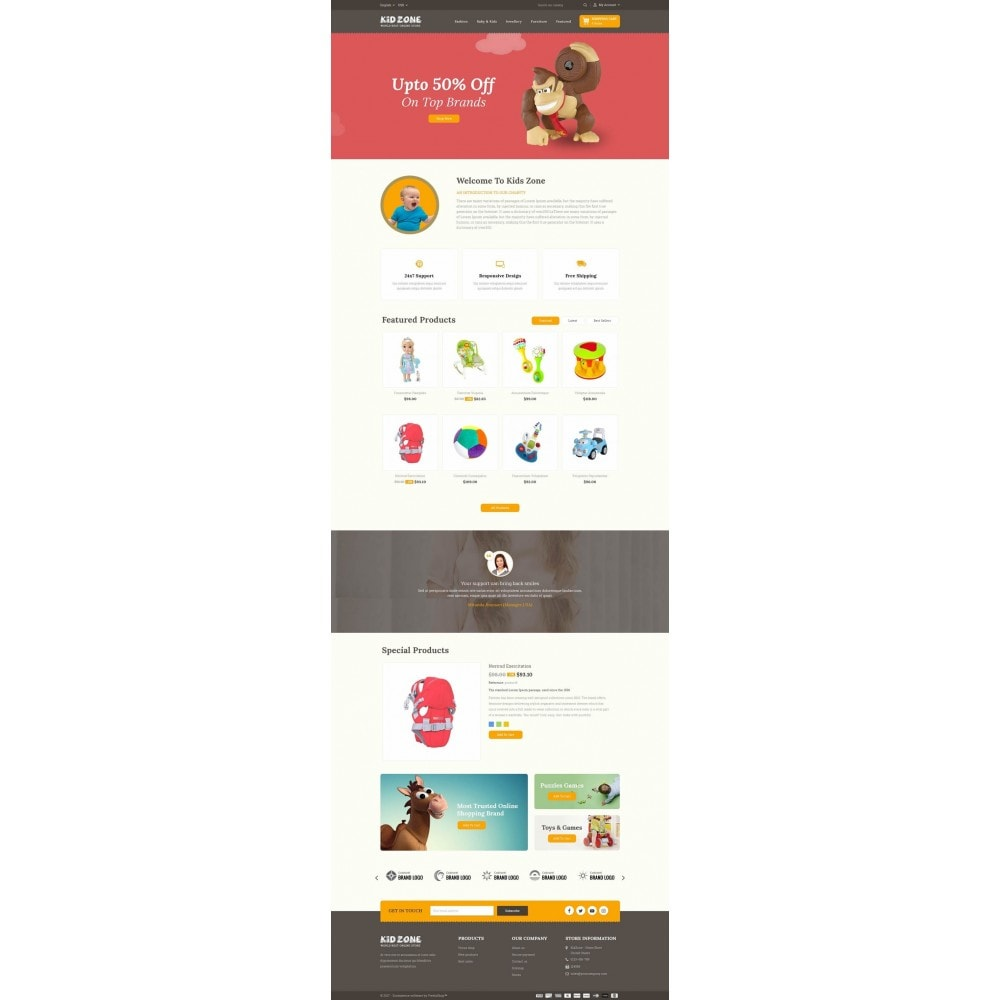 theme - Kids & Toys - Kid Zone Online Store - 2