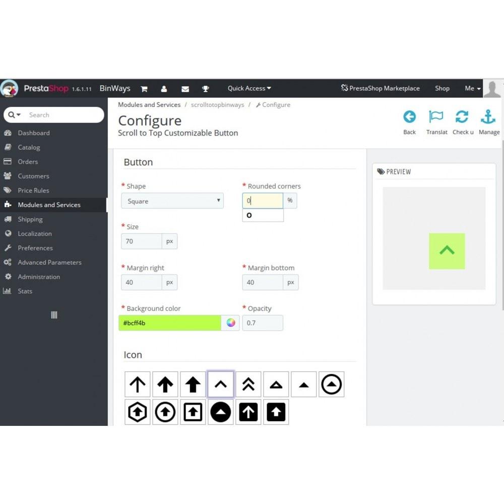 module - Herramientas de navegación - Botón Scroll To Top Configurable - 5