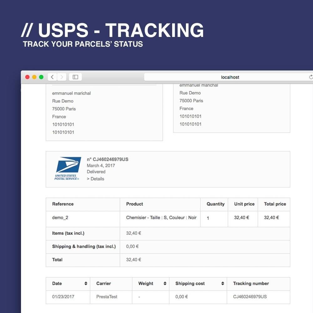 module - Bezorging volgen - USPS tracking - 2