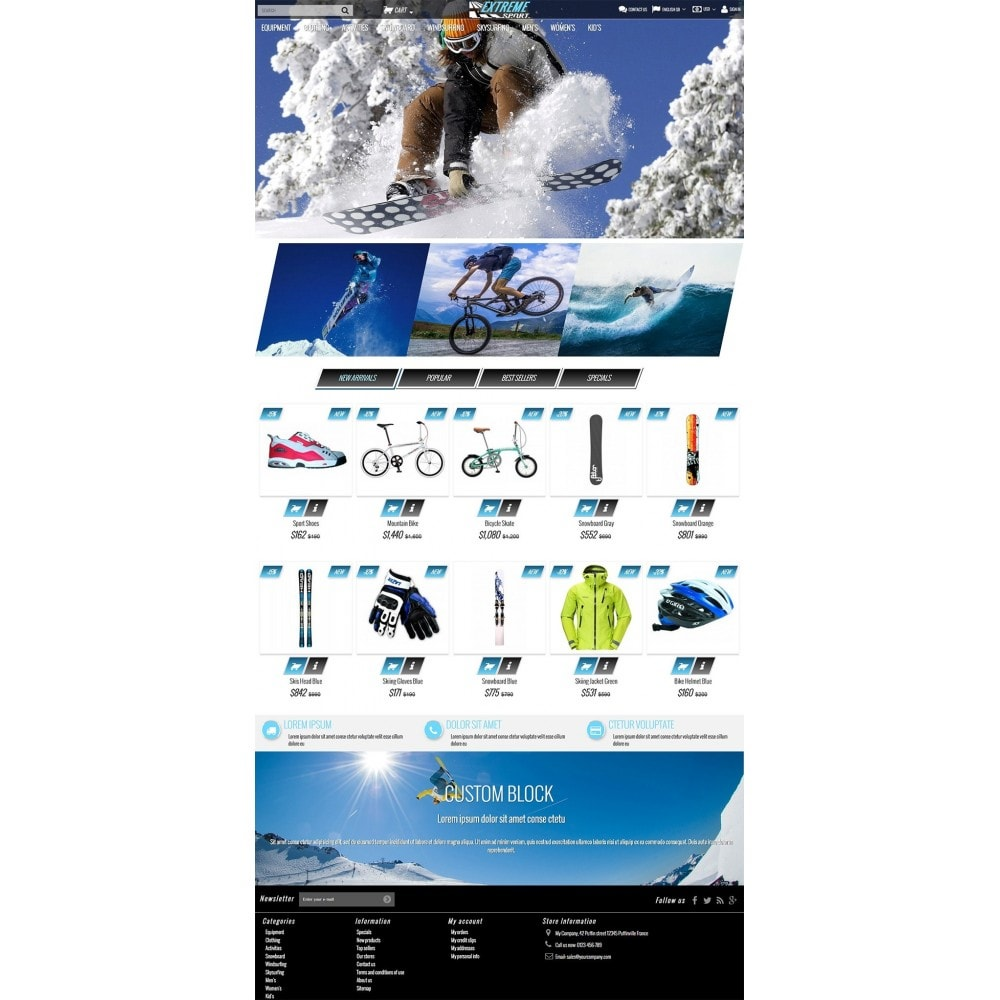 theme - Sports, Activities & Travel - Extreme Sport Store - 2