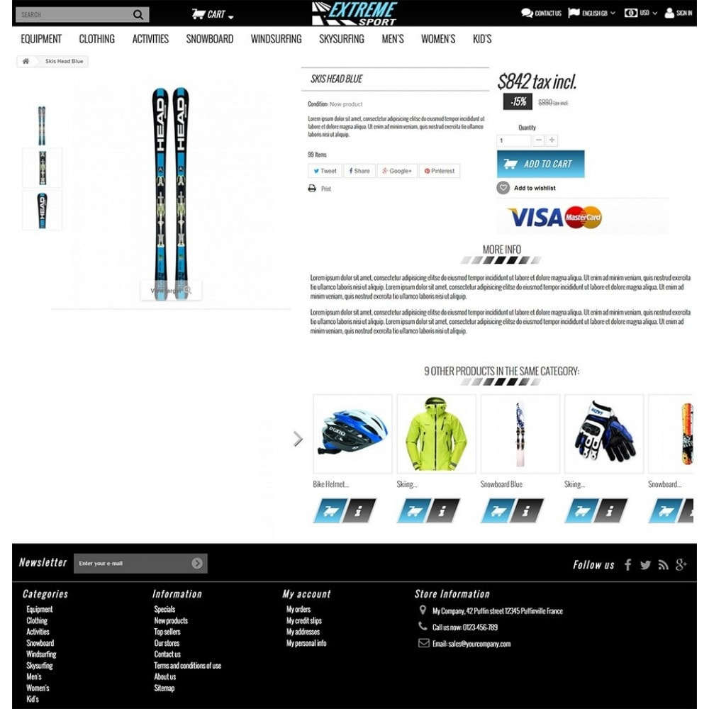 theme - Sport, Loisirs & Voyage - Extreme Sport Store - 3