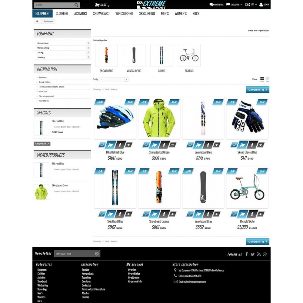 theme - Sport, Loisirs & Voyage - Extreme Sport Store - 4