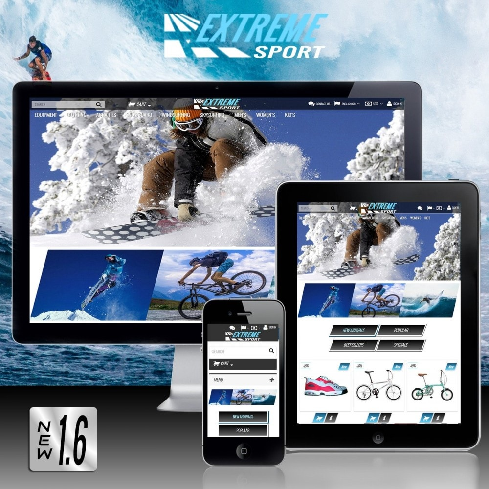 theme - Sport, Rozrywka & Podróże - Extreme Sport Store - 2
