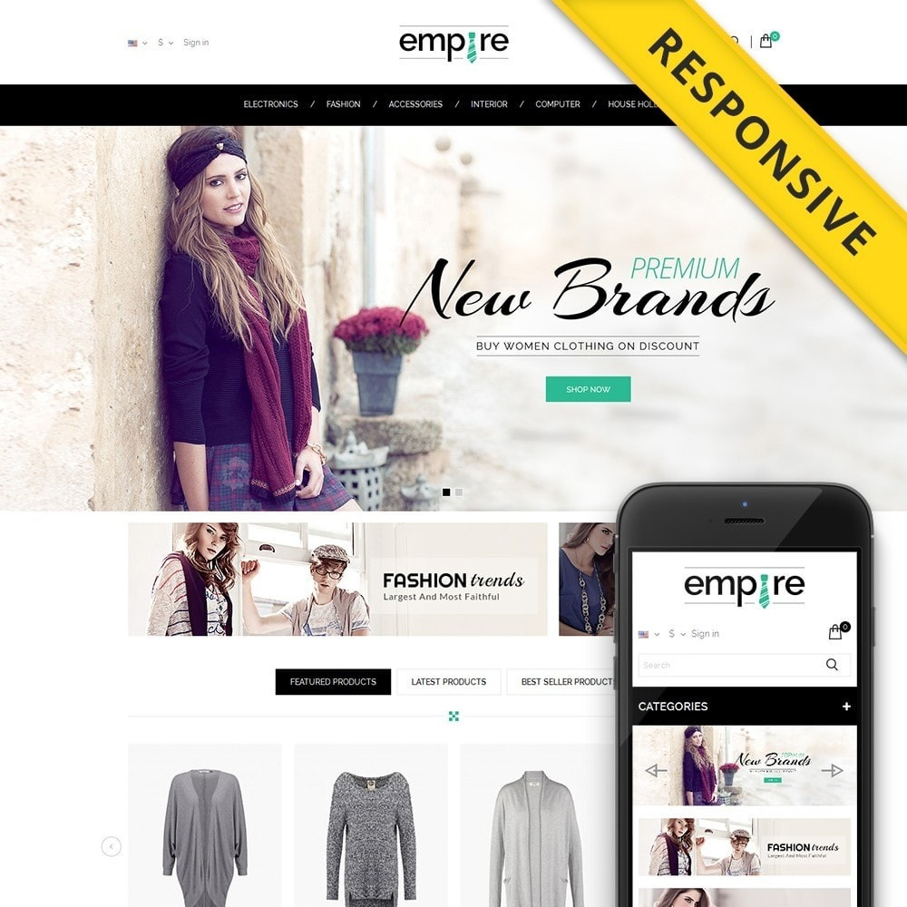theme - Mode & Chaussures - Empire Shop - 1