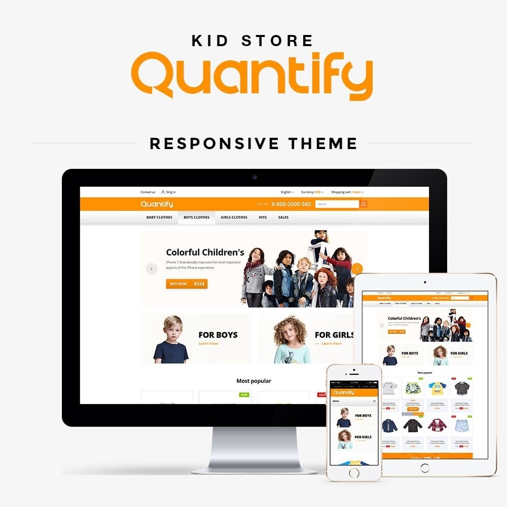 theme - Дети и Игрушки - Quantify - Kids Clothes - 2
