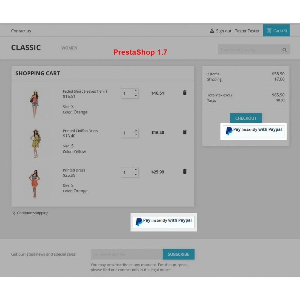 module - Express Checkout Process - Paypal Instant Checkout - 3