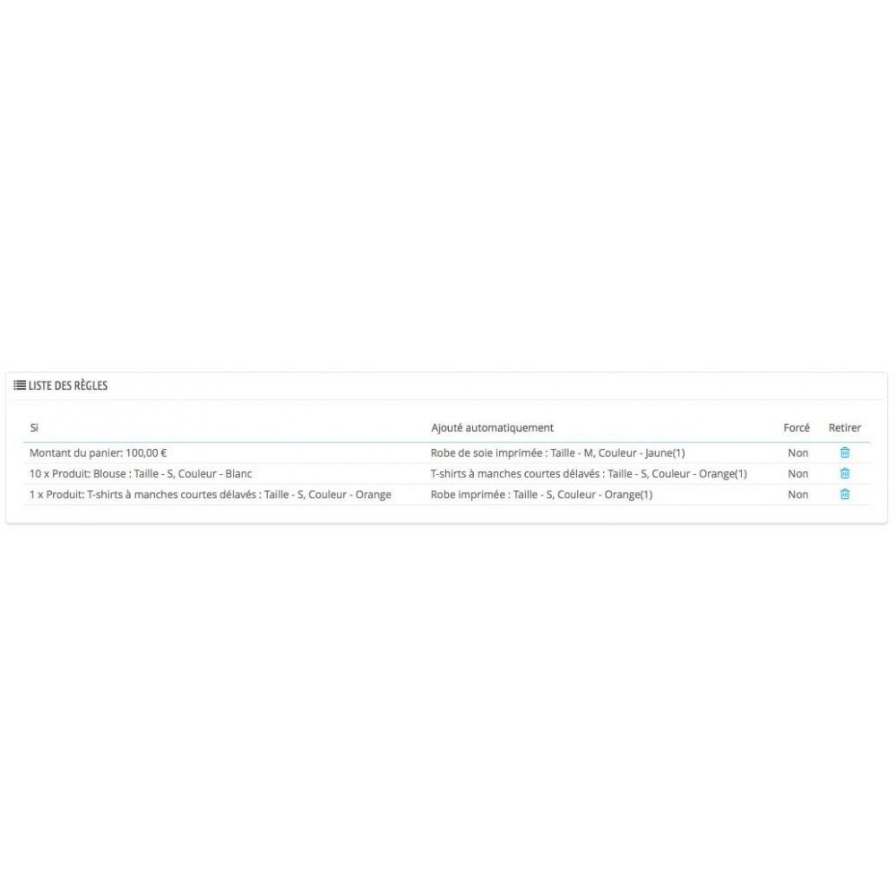 module - Ventes croisées & Packs de produits - Ajout automatique de produit au panier(assurance, etc.) - 3