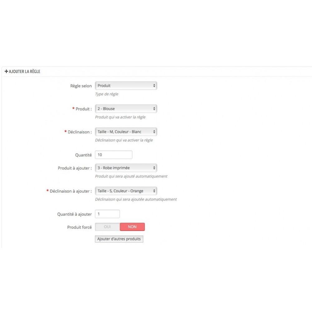 module - Ventes croisées & Packs de produits - Ajout automatique de produit au panier(assurance, etc.) - 4