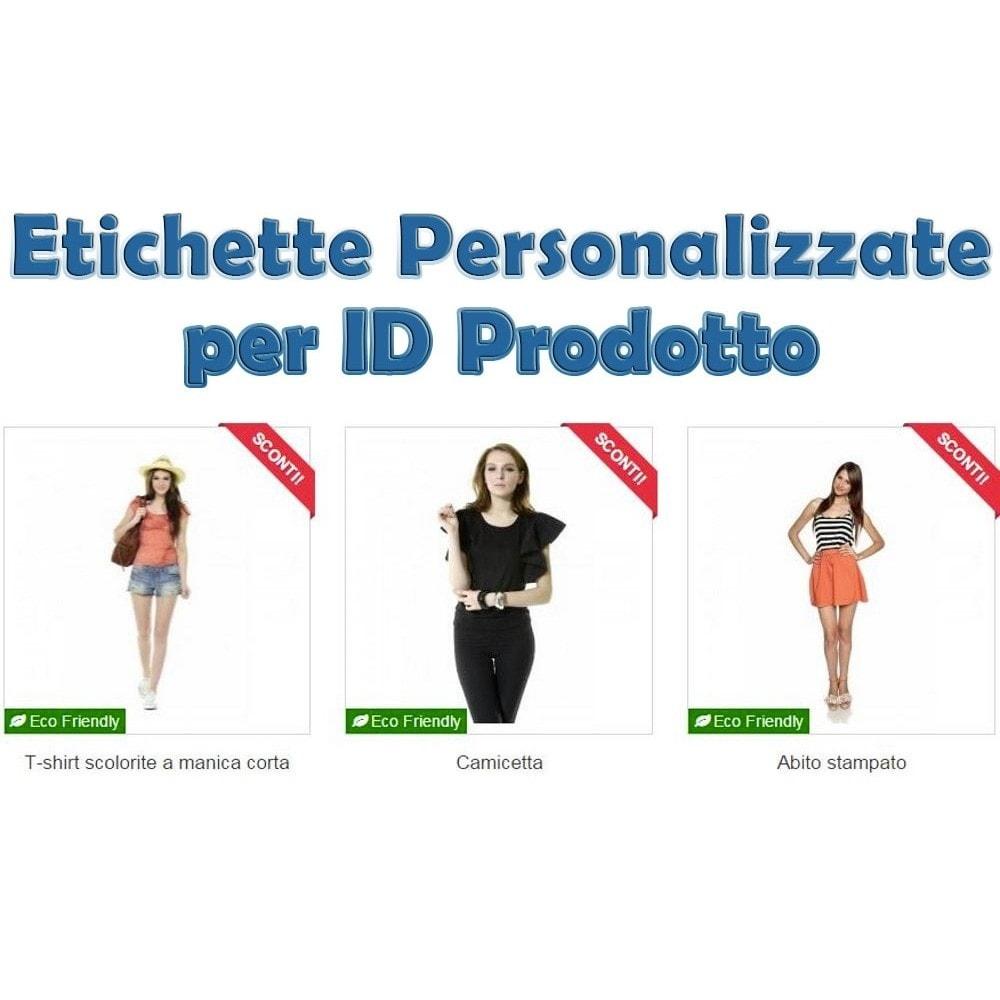 module - Badge & Loghi - Etichette Personalizzate per ID Prodotto - 1