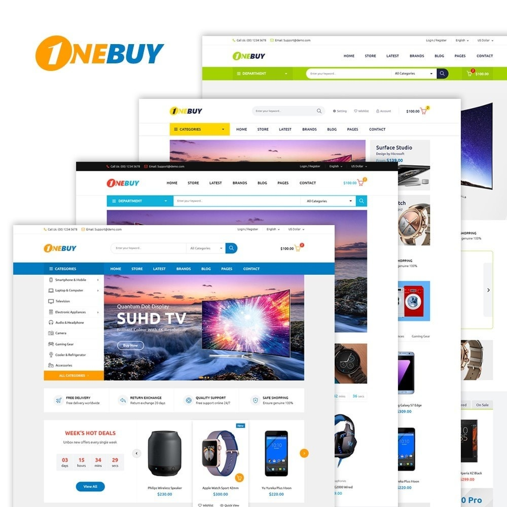 theme - Electrónica e High Tech - JMS OneBuy - 1