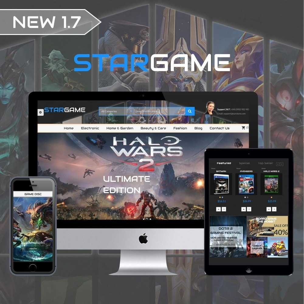theme - Elektronika & High Tech - Star Games And Movie Store - 1