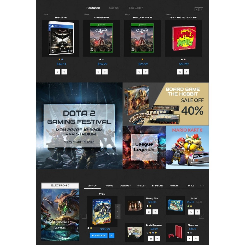 theme - Elektronika & High Tech - Star Games And Movie Store - 2