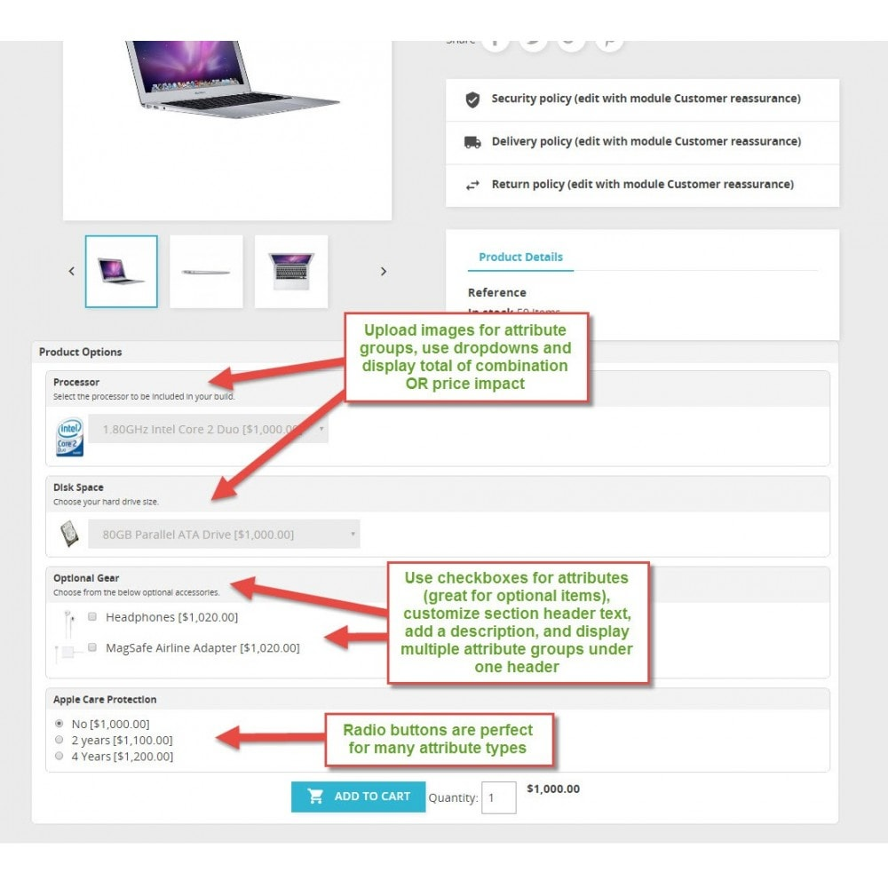 module - Deklinacje & Personalizacja produktów - Attribute Wizard - 1