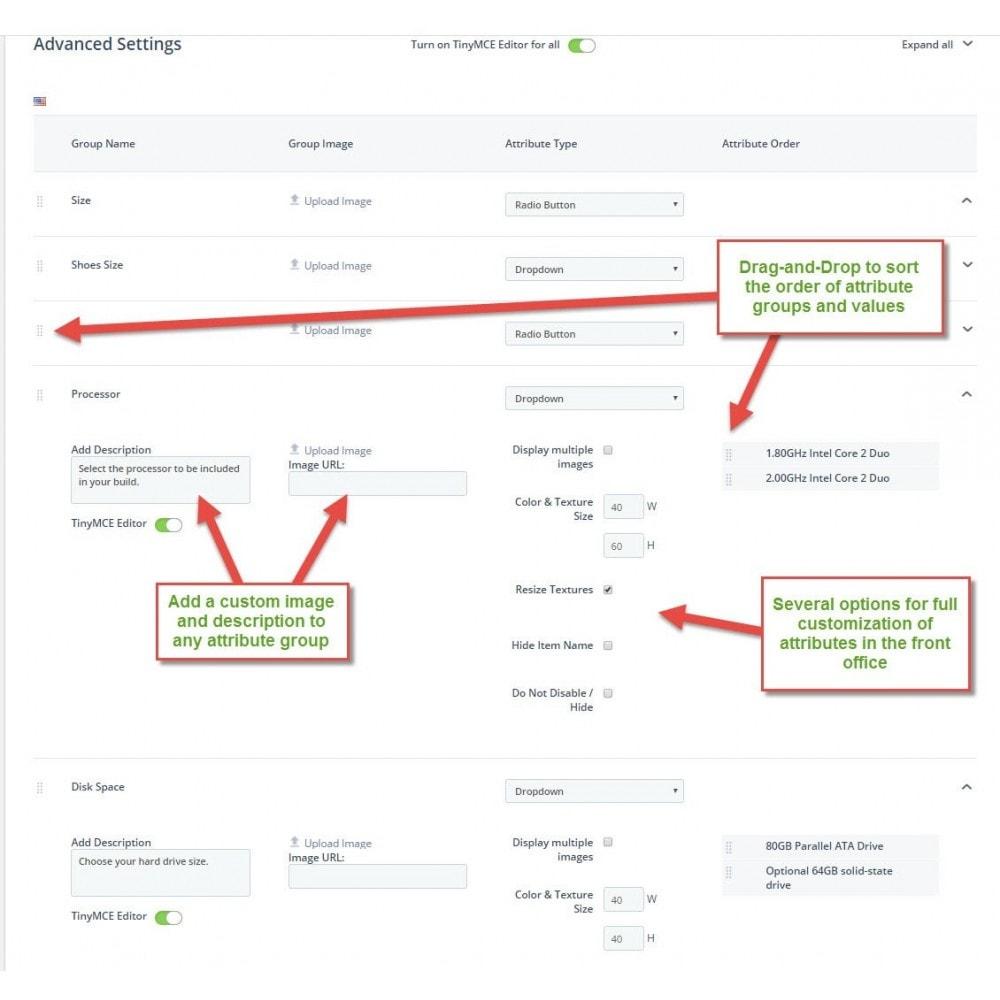 module - Deklinacje & Personalizacja produktów - Attribute Wizard - 3