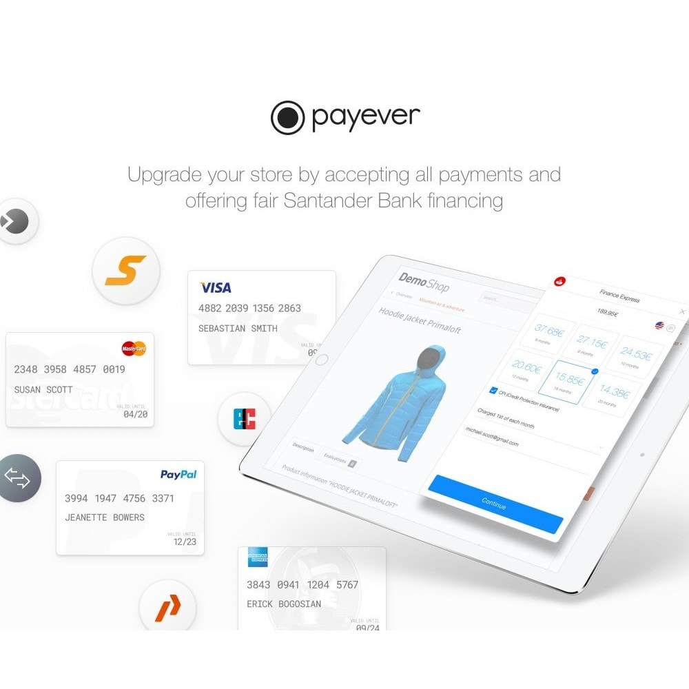 module - Creditcardbetaling of Walletbetaling - payever - Credit Card, Invoice, ELV, Installments - 3