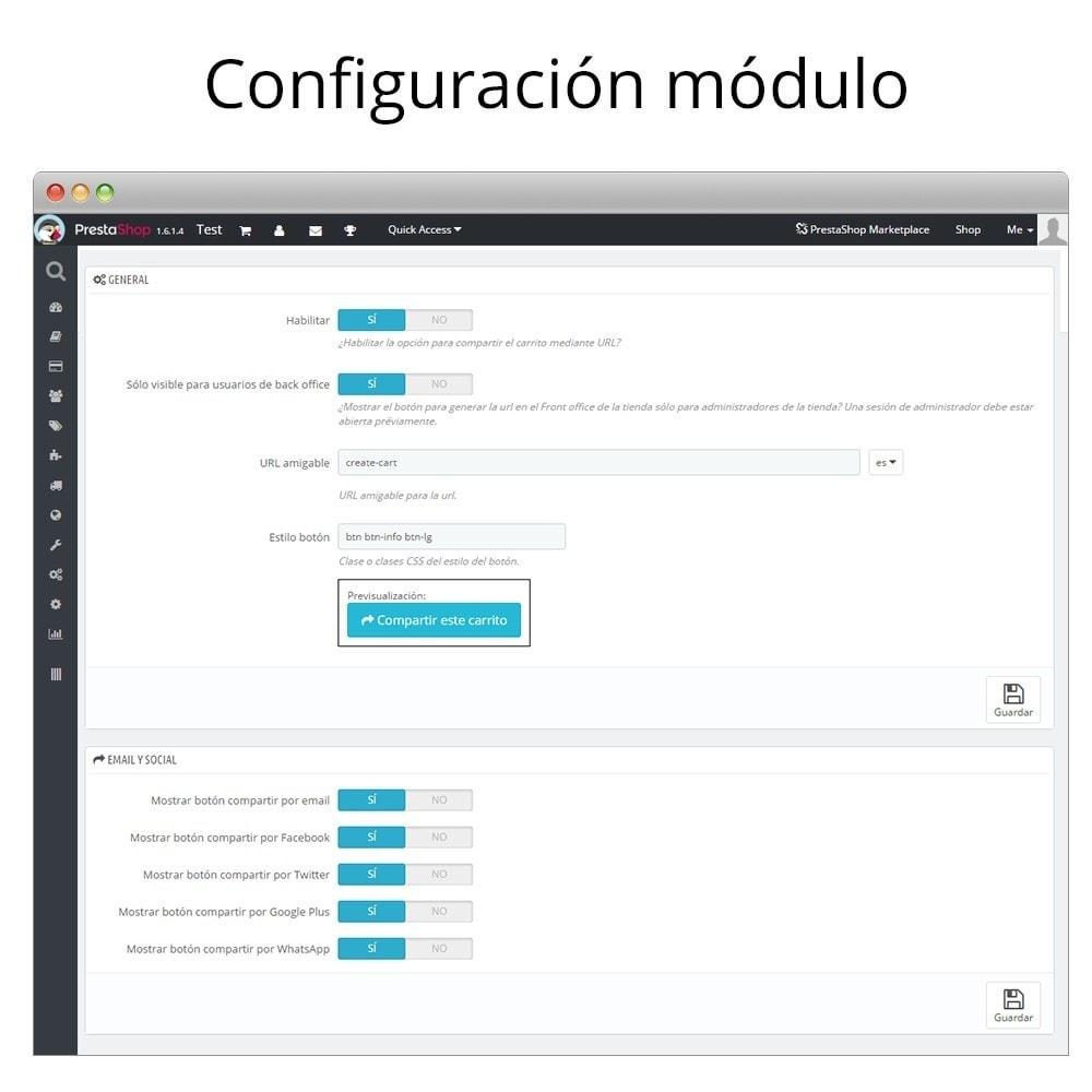 module - Compartir contenidos y Comentarios - Compartir el carrito - Añade productos desde la URL - 2