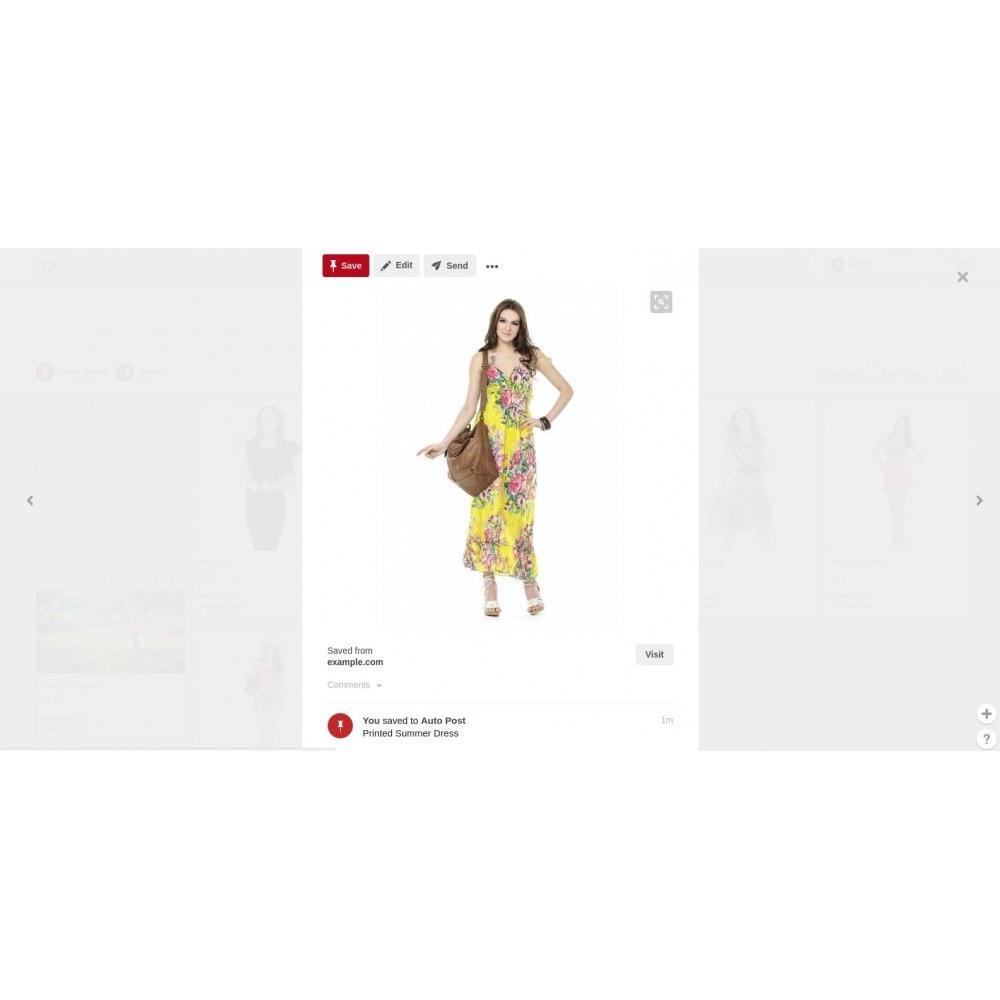 module - Deelknoppen & Commentaren - Auto-Post Products to Pinterest - 2