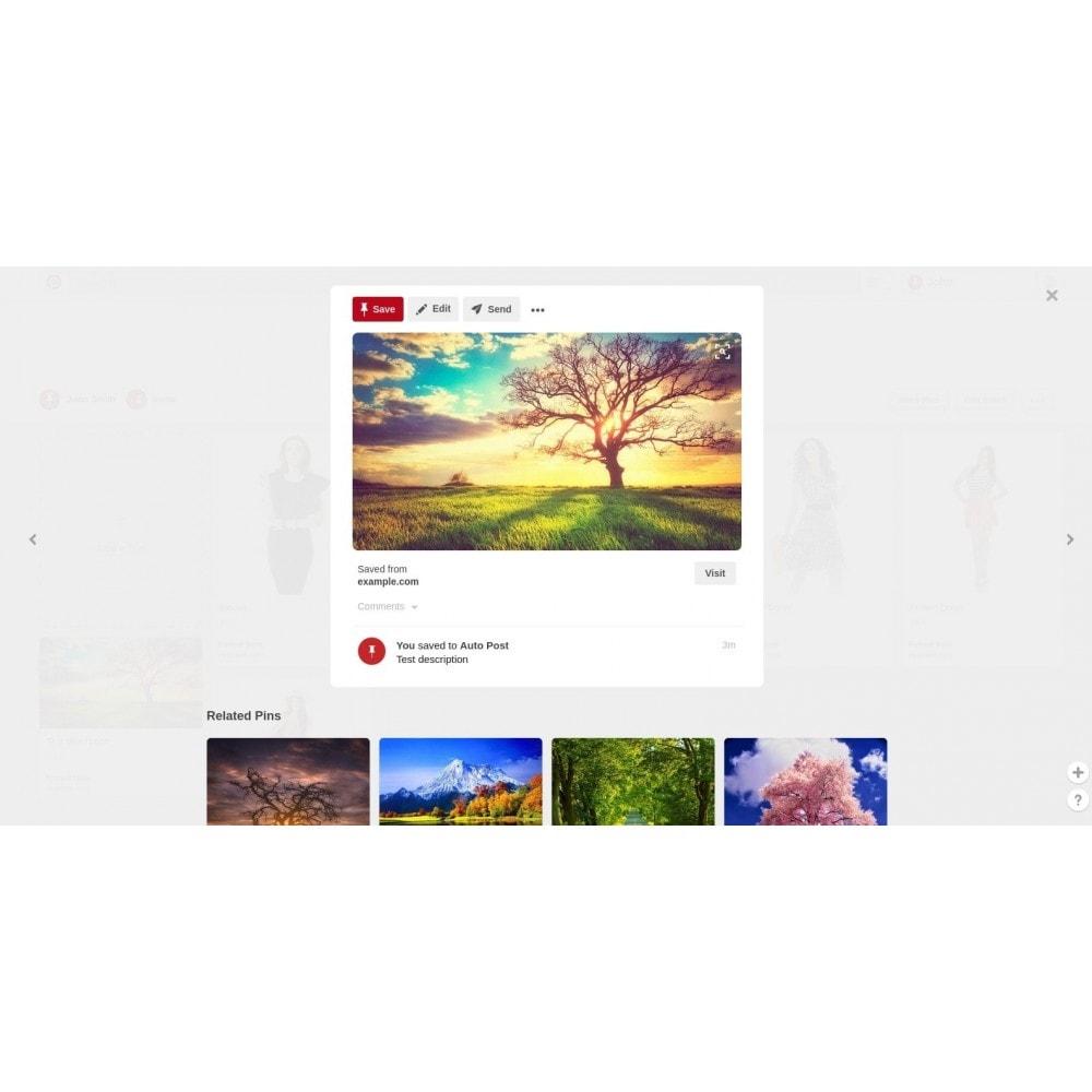 module - Compartilhamento & Comentários - Auto-Post Products to Pinterest - 3