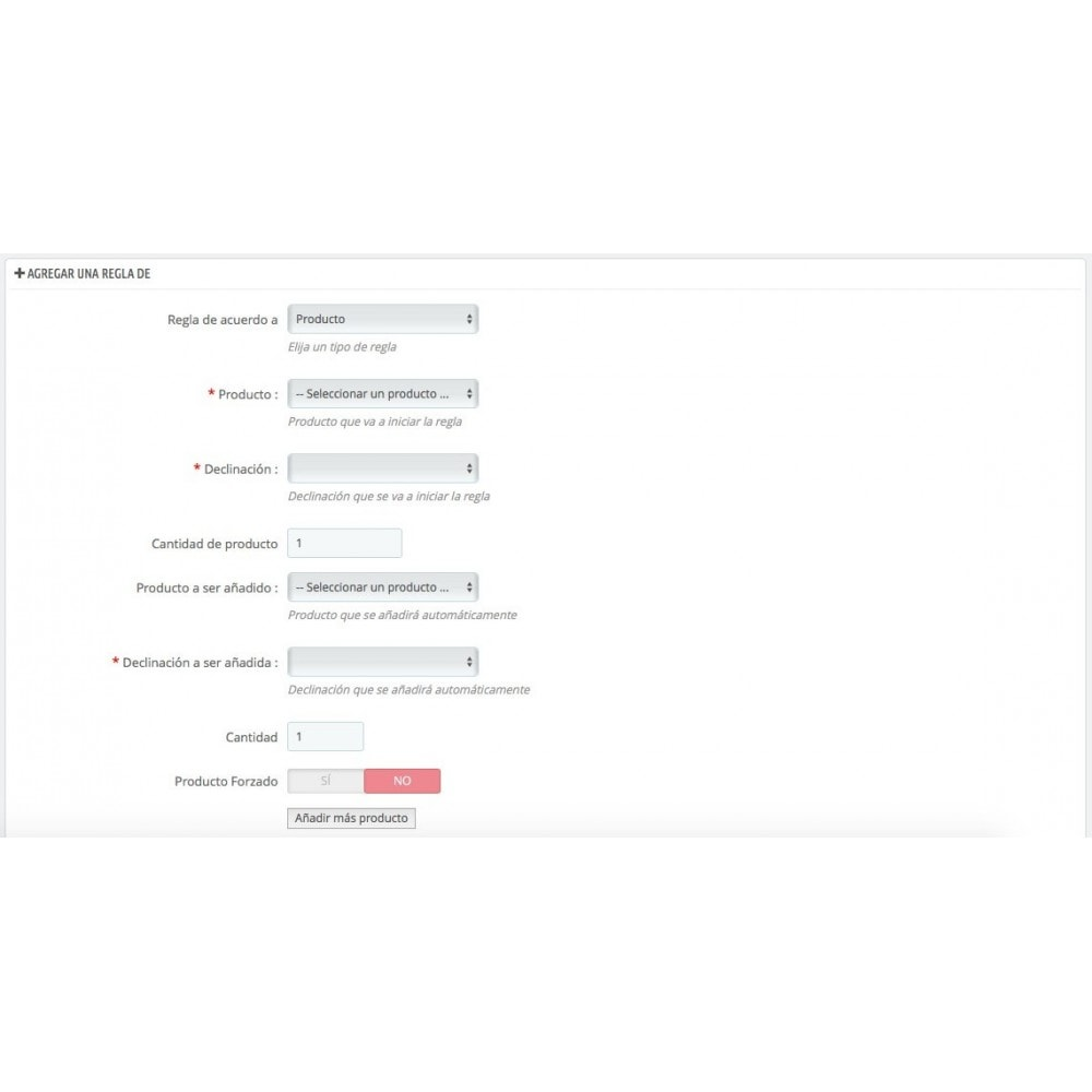 module - Ventas cruzadas y Packs de productos - Agrega automáticamente productos al carrito(seguro,...) - 4