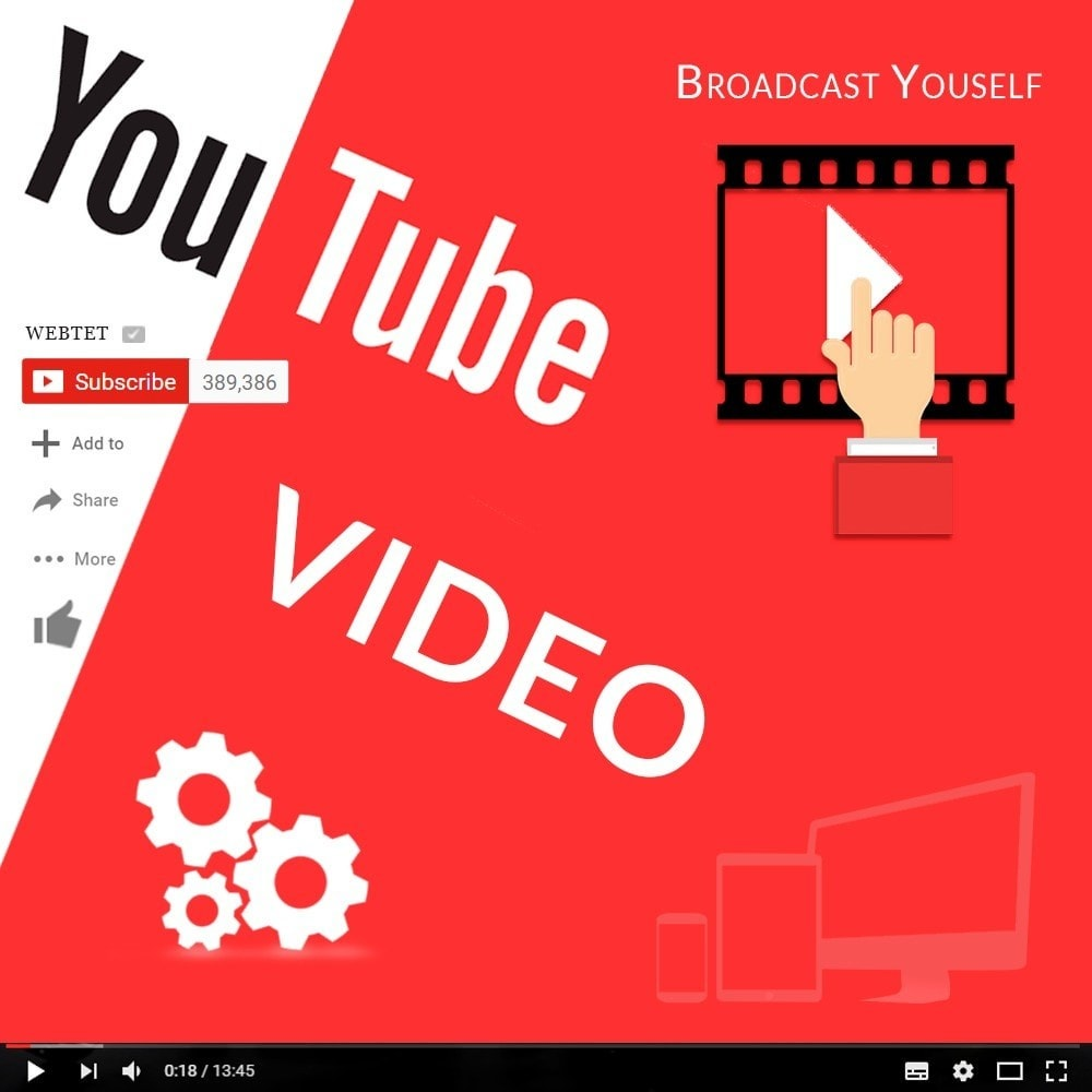 module - Videos & Music - Responsive Video Youtube Home, Column and Product Page - 1