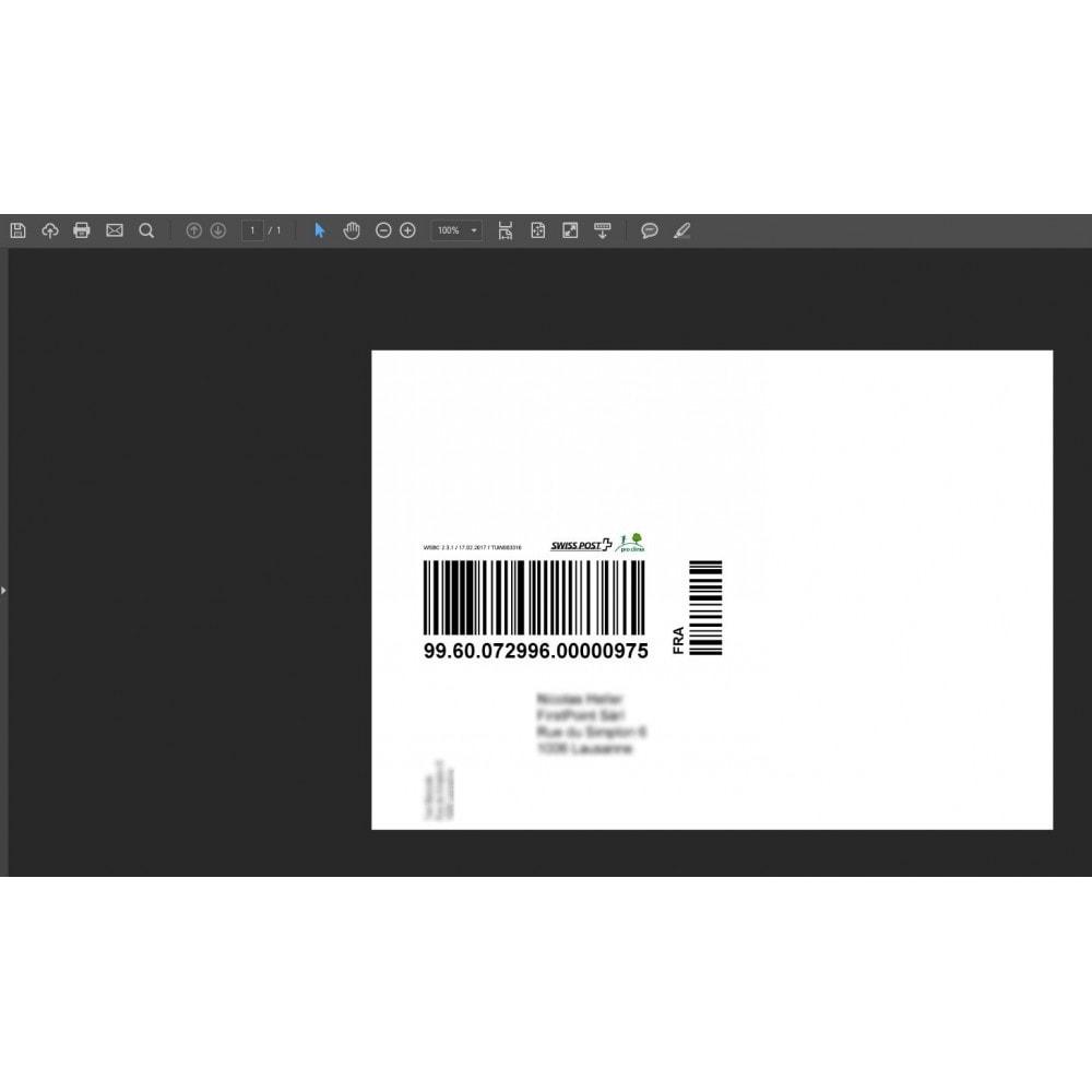 module - Transporteurs - Poste Suisse - Webservice «Code à barres» / étiquettes - 3